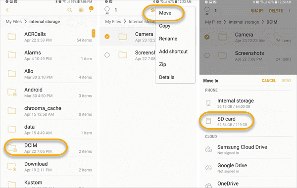 How to change the setting of phone from phone storage to sd card in micromax android phones: How to Move Pictures and Apps to SD Card on Android
