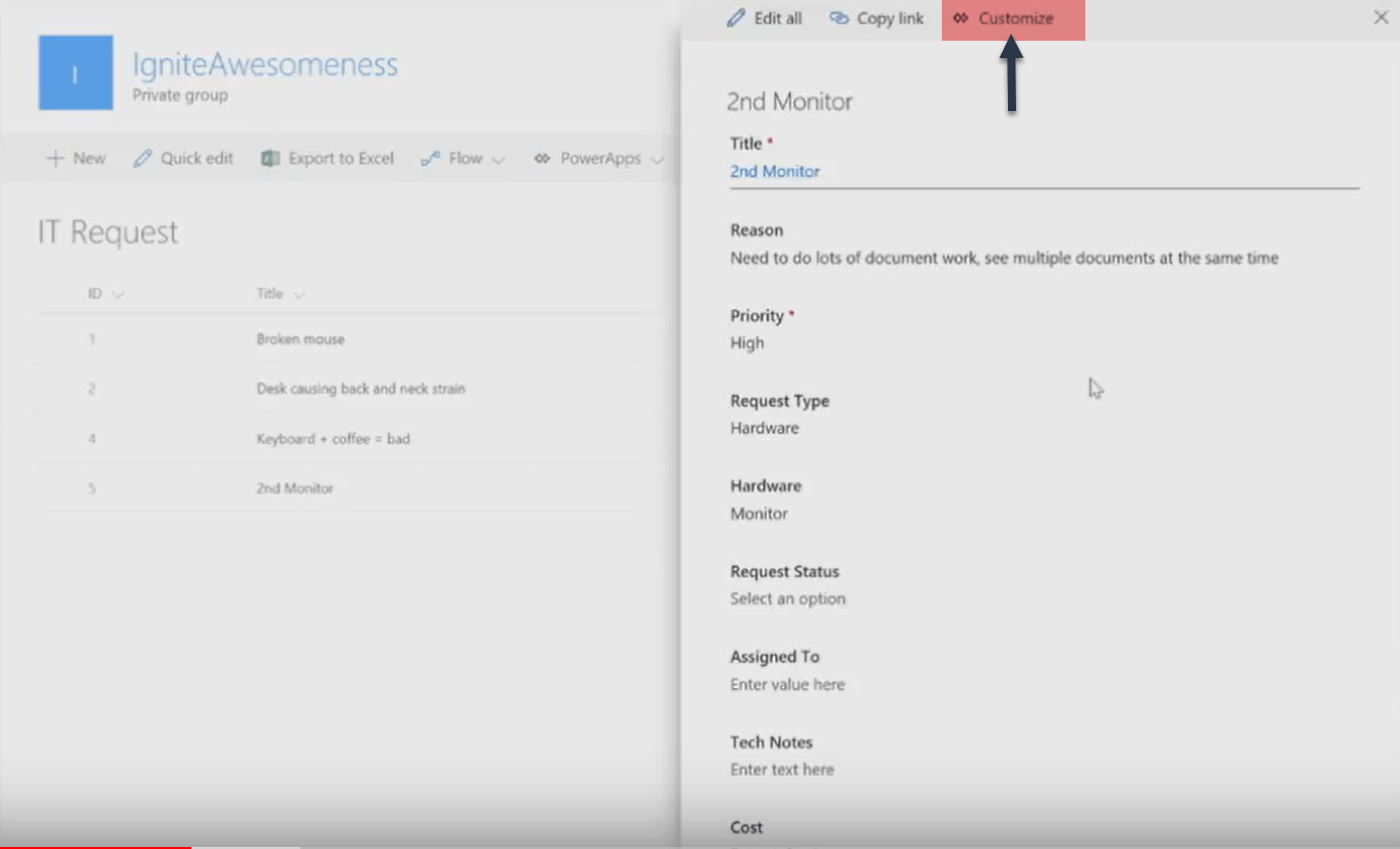 SharePoint Online Custom Forms using PowerApps[InfoPath
