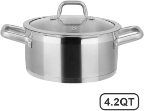 Duxtop Stainless Steel double handle sauce pot for induction hob