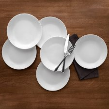 Lunch Plates lead free Corelle Winter Frost dinnerware sets