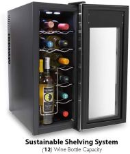 Nutrichef Counter top wine cellar slim Refrigerators for Apartments