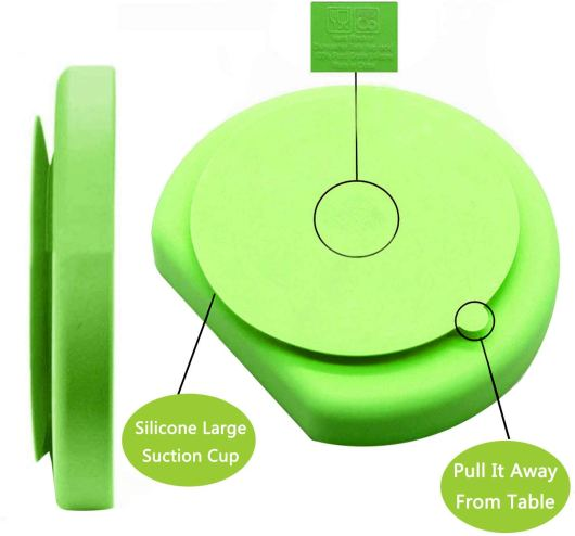 Toddler silicone suction plates that stick to table