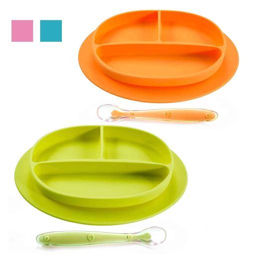 Self feeding toddler Plates that stick to table