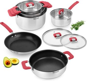 Rondell savvy best type of stainless steel cookware set, pots and pans