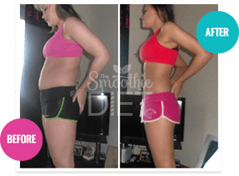 detox belly fat burning green smoothie recipe before and after picture