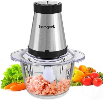 Homegeek meat blender and grinder chopper processor for pureeing meat