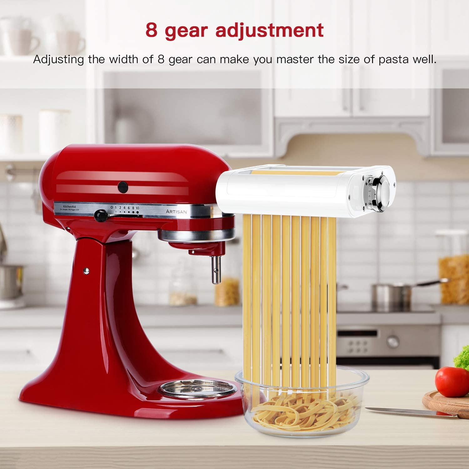 Pasta Roller by KitchenAid and cutter adjustments