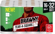 Brawny tear -A-square Paper towel, strong and absorbent for the money