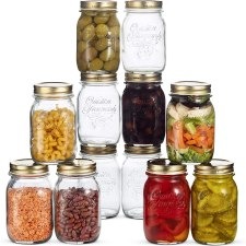 Bormioli Rocco mason lead free jar used for fermenting and preservation