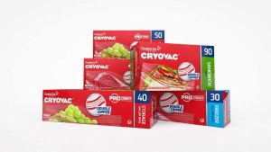 Cryovac resealable double zipper freezer bags