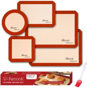 Renook Food safe Reusable silicone baking mats