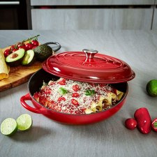 Uno Casa Enameled Iron Dutch Cookware Induction and Oven ready Casserole dish