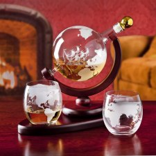 Whiskey decanter globe set for Liquor, scotch, bourbon and vodka