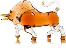 wine savant bull shaped liquor decanter