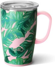 insulated travel mug with handle and Lid, Dishwasher safe