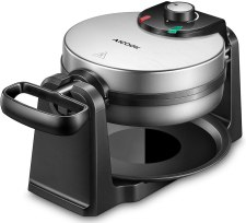 Aicook Belgian Waffle Maker with non-stick plats and removable drip tray