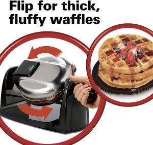Hamilton Beach Flip Belgian Waffle Maker with removable plates