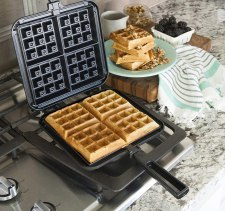 Nordicware Belgium Aluminum Stove top Waffle Iron