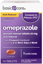 Omeprazole frequent heartburn medication tablets