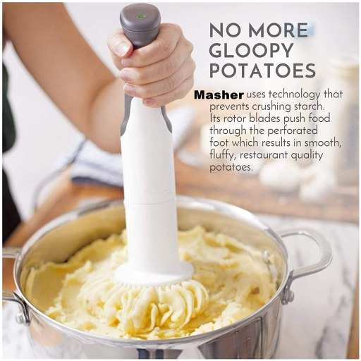 Best Electric potato masher for pureeing baby food, vegetables and mashing potatoes.