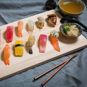 Slim and medium affordable Boumbi Hinoki cutting board for Japanese knives
