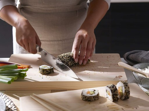 Miyabi Hinoki cutting board for Japanese Knives
