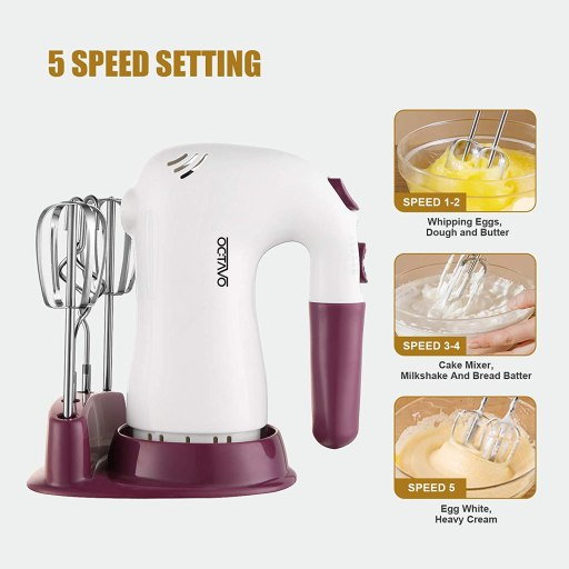 Octavo affordable best electric hand mixer for baking and general cooking