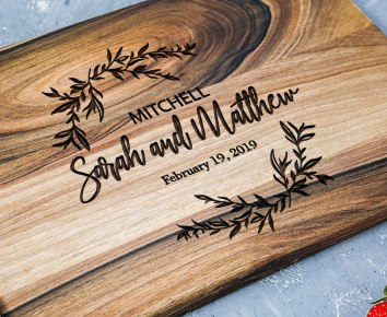 Engraved personalized cutting board