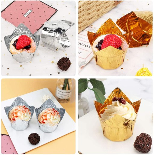 Cupcake Aluminum liners foil baking cups and muffin cups