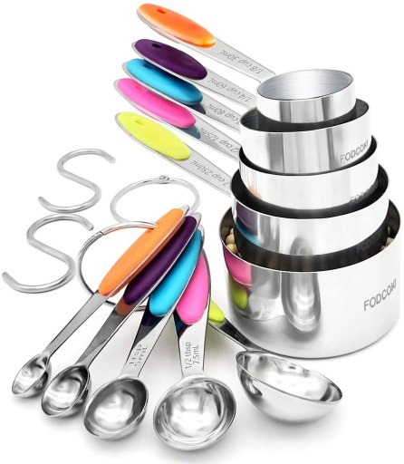 Measuring Cups and Spoons Set of 12 for Dry and Liquid Ingredients