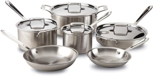 All Clad stainless steel induction cookware set