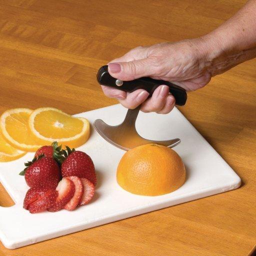 Rocker adaptive kitchen gadget for arthritic hands
