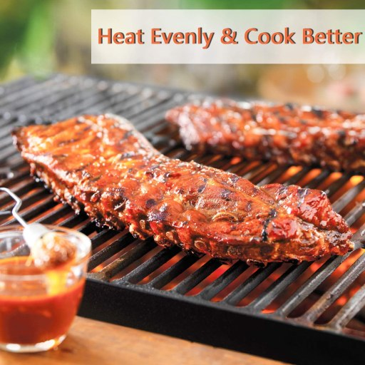 cast iron enameled pan support grid grates for grill cooking