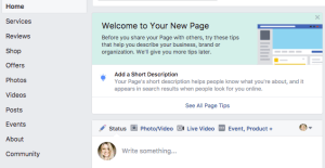 Facebook gives you tips on how to set your page for maximum impact
