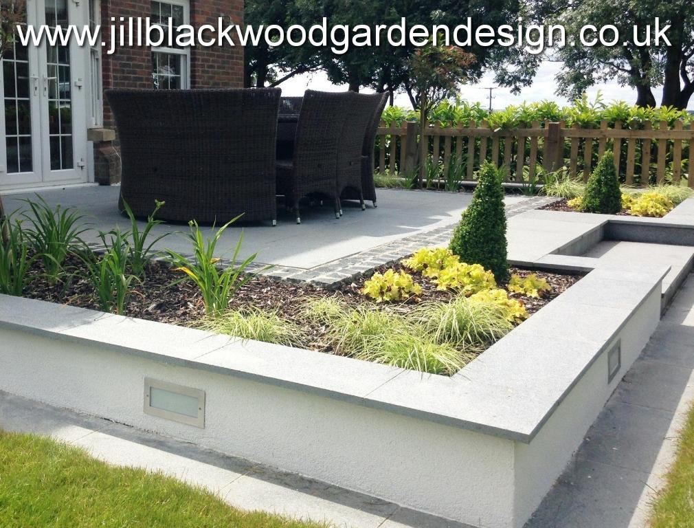 Contemporary garden design swindon wiltshire jill for Garden design landscaping company