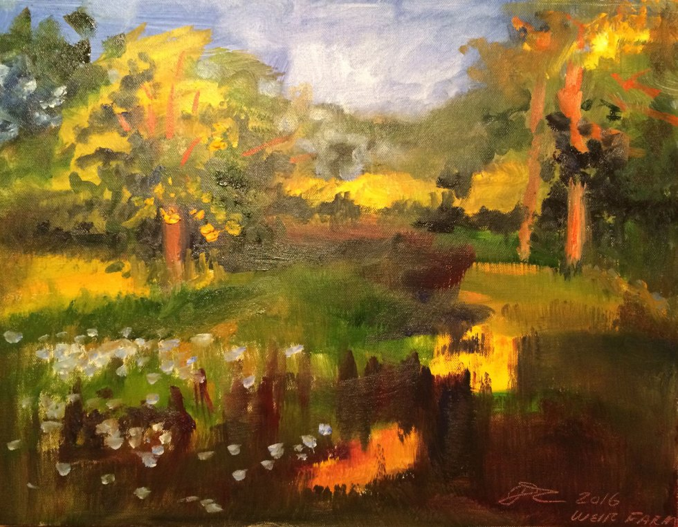 en plein air, Summer Solstice Sunset, Weir Farm National Park, June 2016