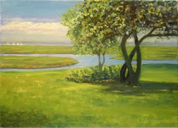 """Copp's View, oil on canvas, 11"""" x 14"""""""