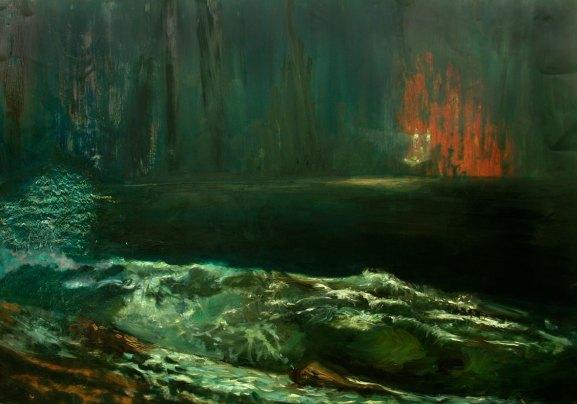 Into the Mystic, Oil on Copper