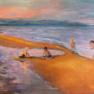 "The Sandbar, pastel, 12"" x 18"""