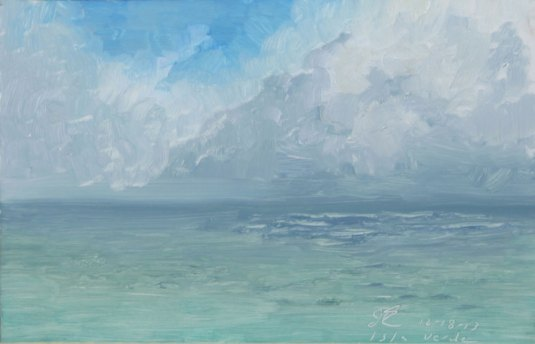 Squall Line, Puerto Rico, Oil on Board
