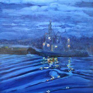 Tugboat Nocturne marine and seascape art
