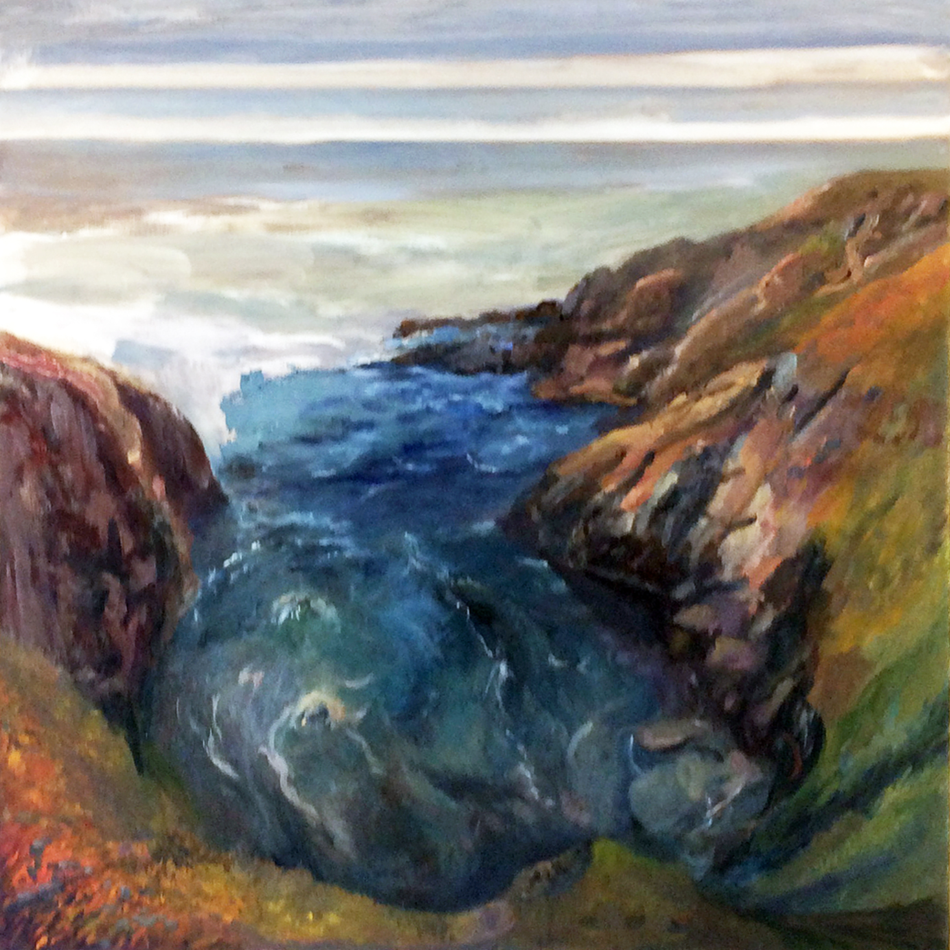 Pigeon Point, Northern California Coast, see plein air page for field study