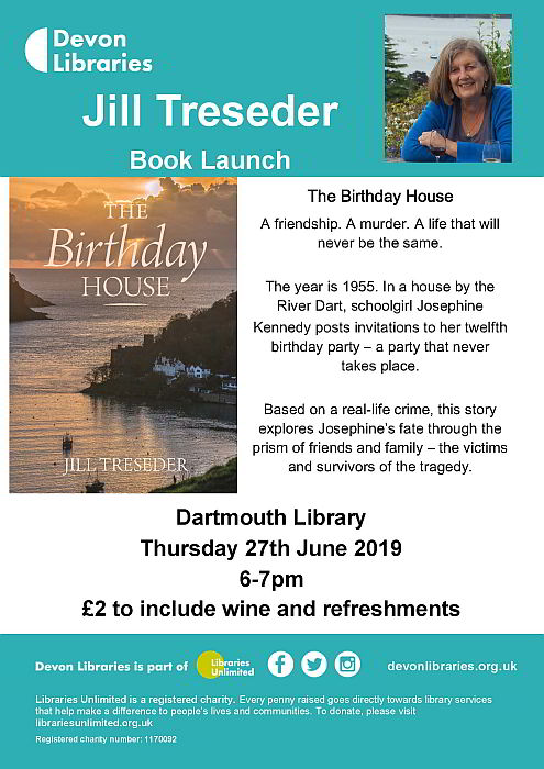 Birthday House book launch poster