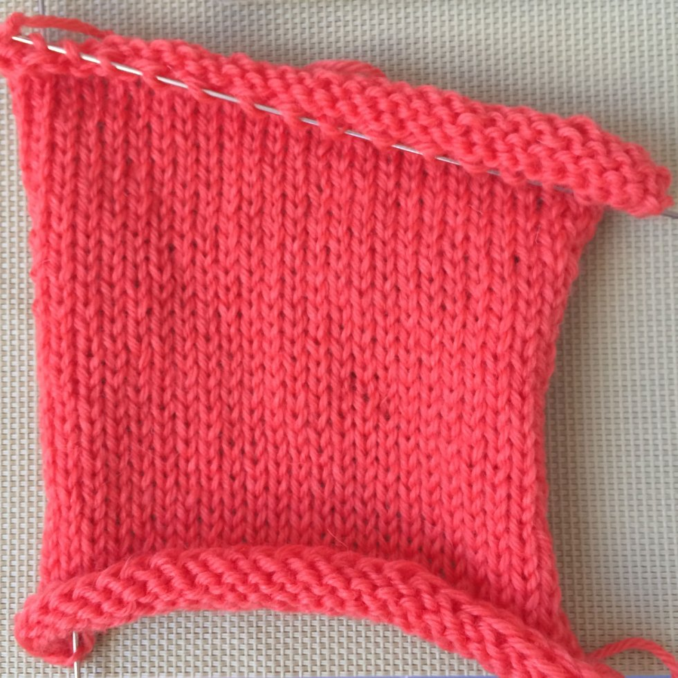 St st or Stockinette stitch