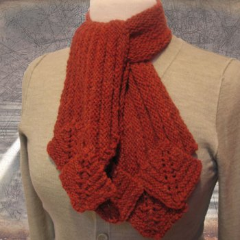 Limestone Scarf Stitch Red Cropped Cover