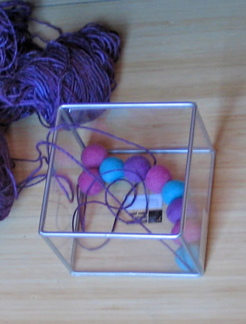 Felt-ball-container