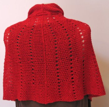 Red Windsor Capelette Back