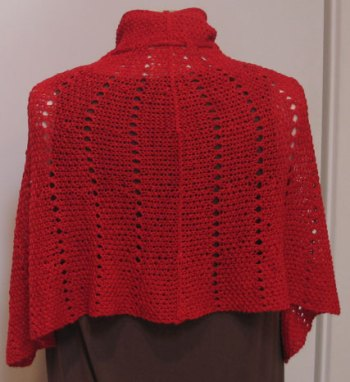 Red Windsor Capelette Back 2