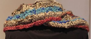 back view of Esperance Cowl in Soft Recycled Silk Ribbon