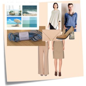 Knits and Clothes: Sand and Sea Outfit Board